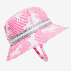 Stripe Unicorn Sun Hat  POODLE PINK  hi-res