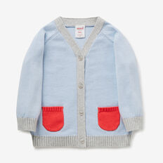 Raglan Pocket Cardi  MISTY BLUE  hi-res