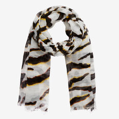 Tiger Scarf  WHITE MULTI  hi-res
