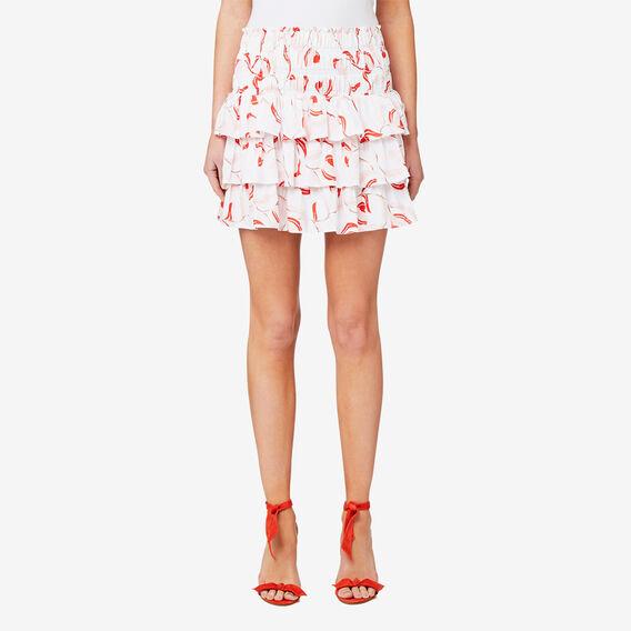 Floral Rah Rah Skirt  BRIGHT WHITE FLORAL  hi-res