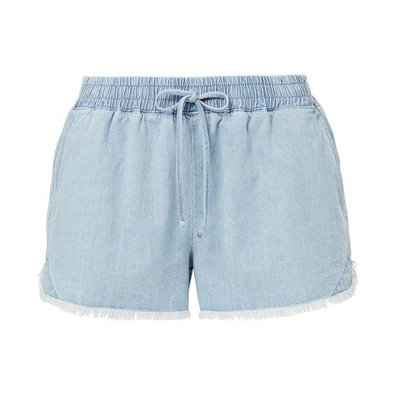 Frayed Hem Short  CHAMBRAY BLUE  hi-res