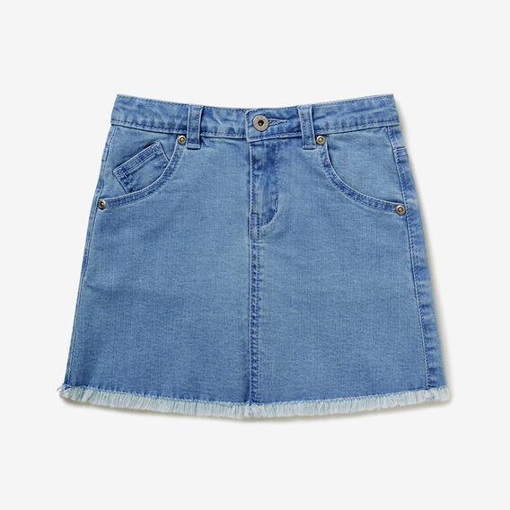 Frayed Denim Skirt  SEA BLUE WASH  hi-res