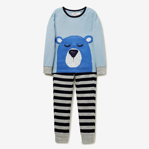 Sleepy Bear PJ  NORDIC BLUE  hi-res