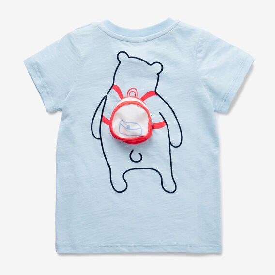 Backpack Bear Tee  PACIFIC BLUE  hi-res