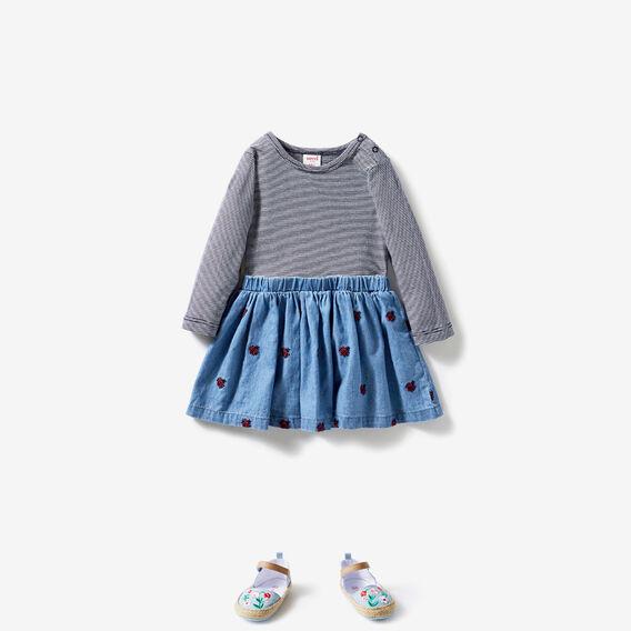 Ladybug Splice Dress  TRUE BLUE WASH  hi-res