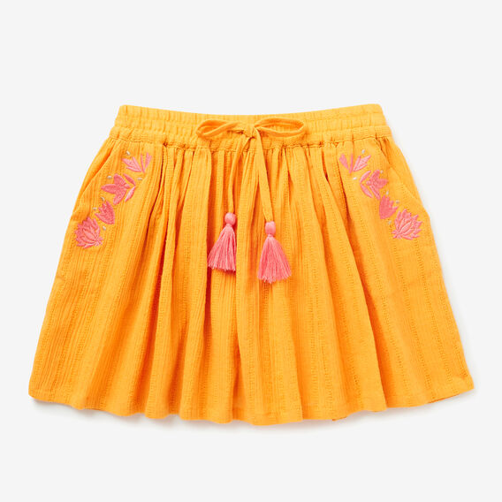 Embroidered Skirt  LIGHT MARIGOLD  hi-res