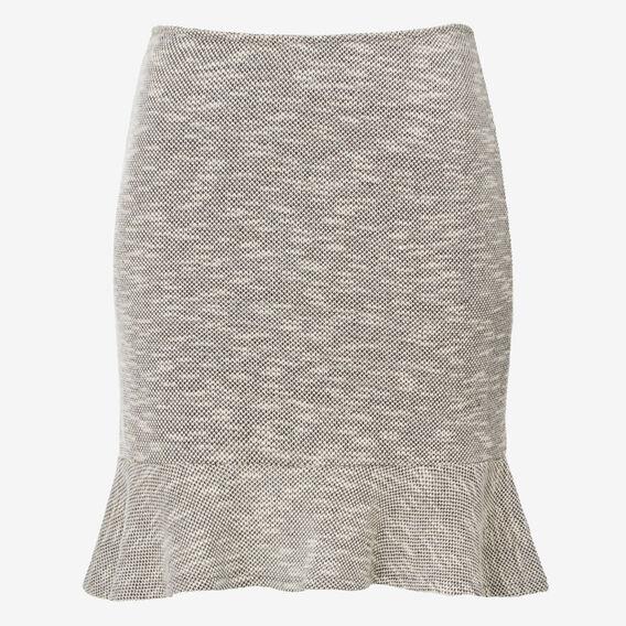Slub Boucle Skirt  CLOUD GREY MARLE  hi-res