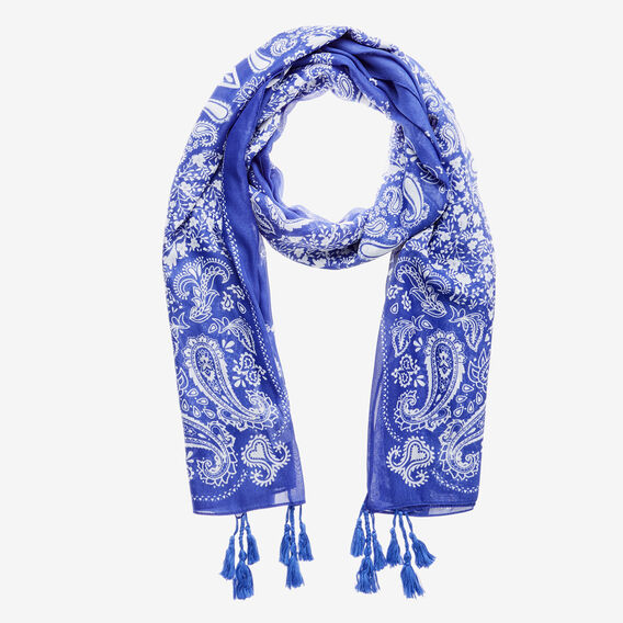 Bold Paisley Scarf  BLUEBIRD BLUE  hi-res