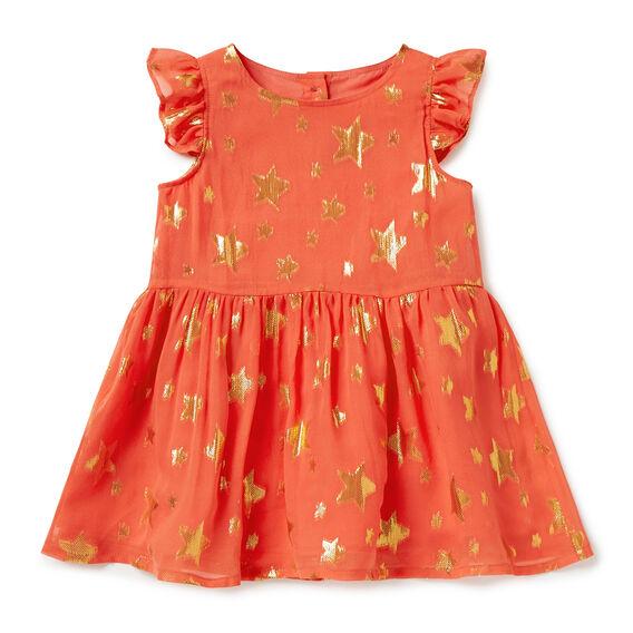 Star Frill Dress  CHERRY RED  hi-res