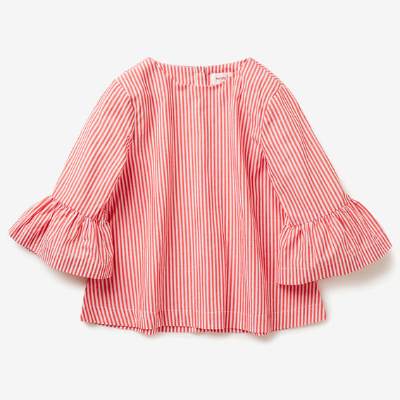 Frill Stripe Top  POPPY RED  hi-res
