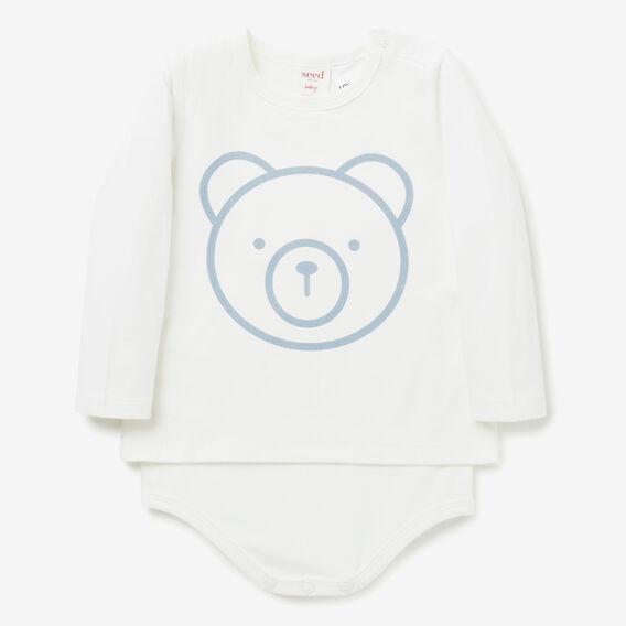 Bear Face Bodysuit  CLOUD BLUE  hi-res