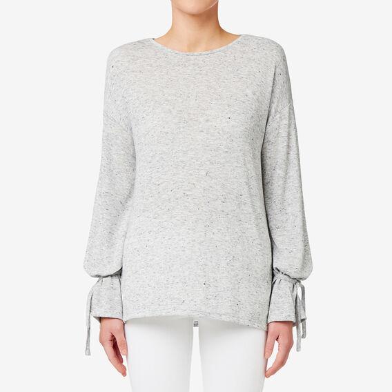 Tie Sleeve Sweater  MID GREY MARLE  hi-res