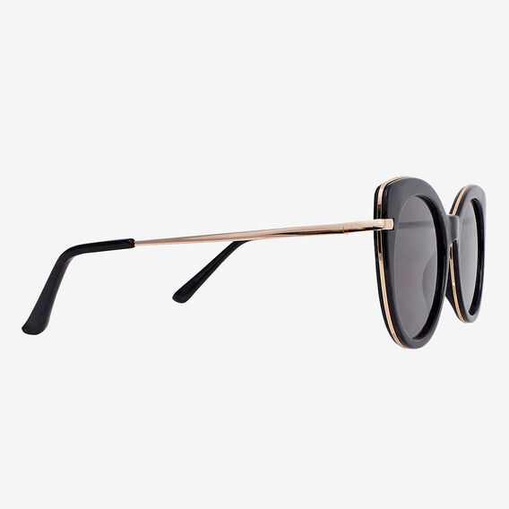 Sara Cats Eye Sunglasses  BLACK  hi-res