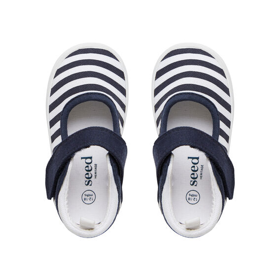 Canvas Stripe Mary Janes  STRIPE  hi-res
