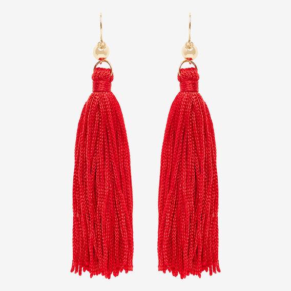 Tassel Earrings  ROYAL RED  hi-res