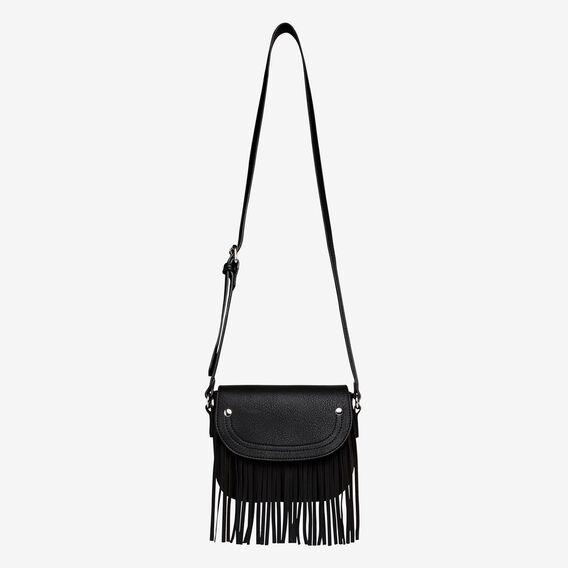 Fringe Saddle Bag  BLACK  hi-res