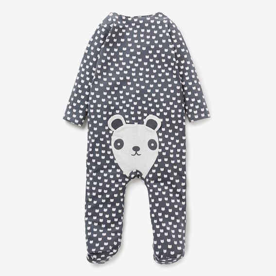 Mini Panda Zip Jumpsuit  CHARCOAL  hi-res