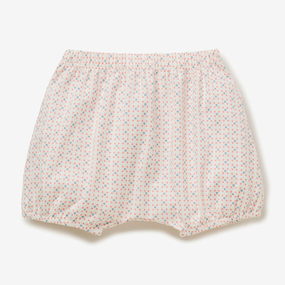 Geometric Jersey Bloomer  BRIGHT APRICOT  hi-res