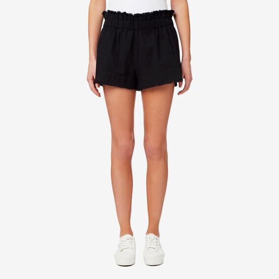 Frayed Hem Short  BLACK  hi-res