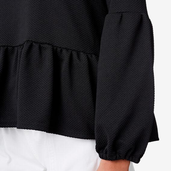 Textured Blouson Top  BLACK  hi-res
