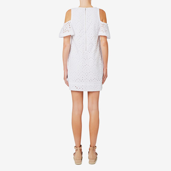 Broderie Dress  BRIGHT WHITE  hi-res