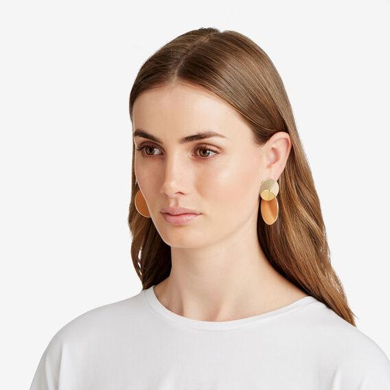 Linked Disc Earrings  GOLD  hi-res