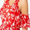 Frill Detail Maxi  ROYAL RED FLORAL  hi-res