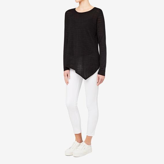 Asymmetrical Sweater  BLACK POINTELLE  hi-res