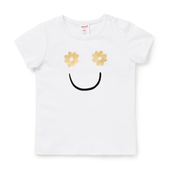 Smiley Face Tee  WHITE  hi-res