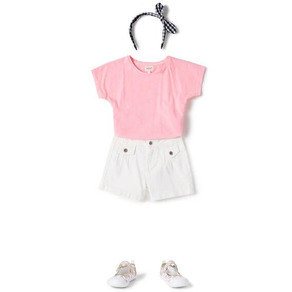Pin-Tuck Shorts  WHITE  hi-res