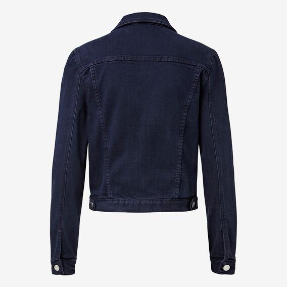Cropped Denim Jacket  DEEP INDIGO DENIM  hi-res