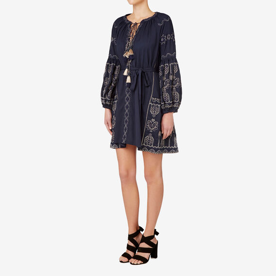 Embellished Kaftan Dress  INK BLUE  hi-res