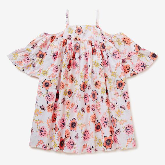 Floral Off Shoulder Dress  MULTI  hi-res
