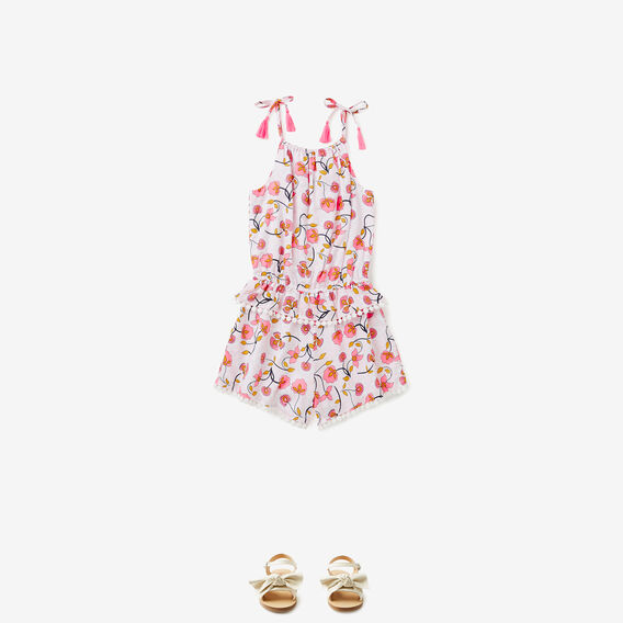 Floral Frill Playsuit  MULTI  hi-res