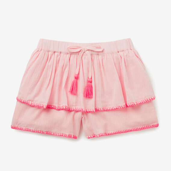 Embroidered Shorts  ICE PINK  hi-res