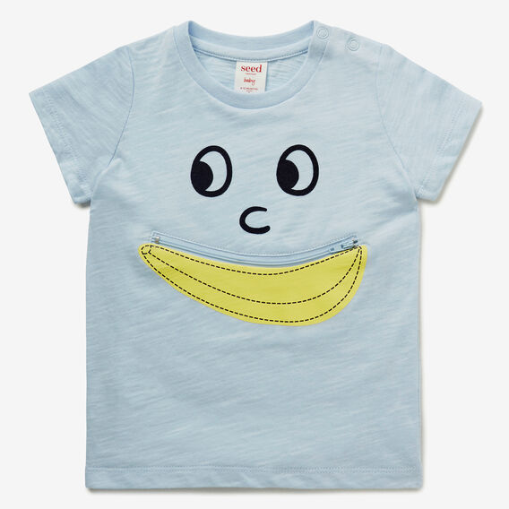 Banana Face Tee  PACIFIC BLUE  hi-res