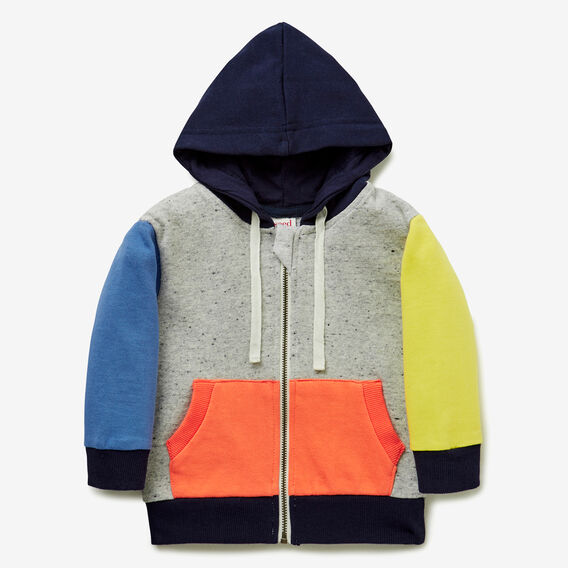 Colourblock Zip Hoodie  MULTI  hi-res