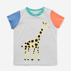 Colourblock Giraffe Tee  MULTI  hi-res
