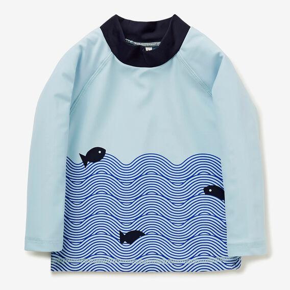 Colourblock Waves Rashie  NORDIC BLUE  hi-res