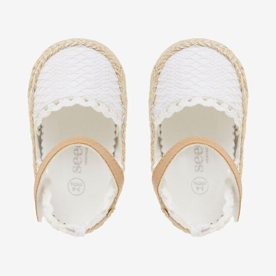 White Broderie Mary Jane  CREAM  hi-res
