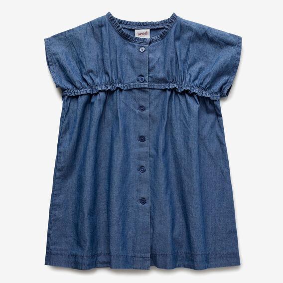 Woven Dress  INK BLUE  hi-res