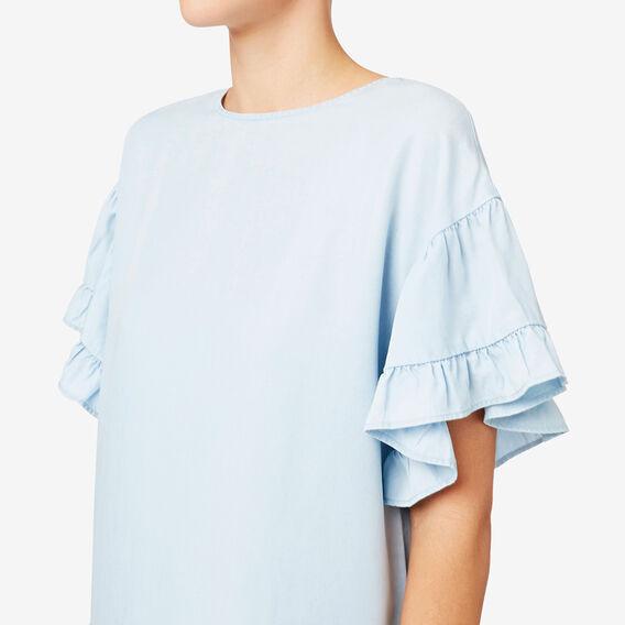 Gathered Sleeve Dress  SPRING BLUE  hi-res