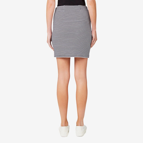 Rib Skirt  STRIPE  hi-res