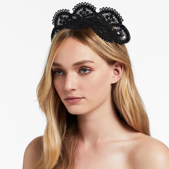 Lace Headpiece  BLACK  hi-res