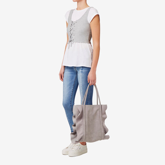 Ellie Frill Tote  GREY  hi-res