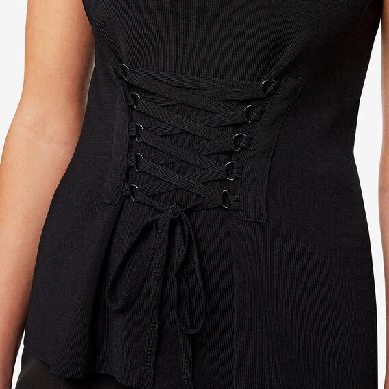 Tie Front Knit  BLACK  hi-res