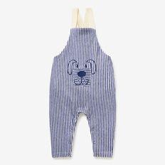 Puppy Stripe Overalls  MIDNIGHT BLUE  hi-res