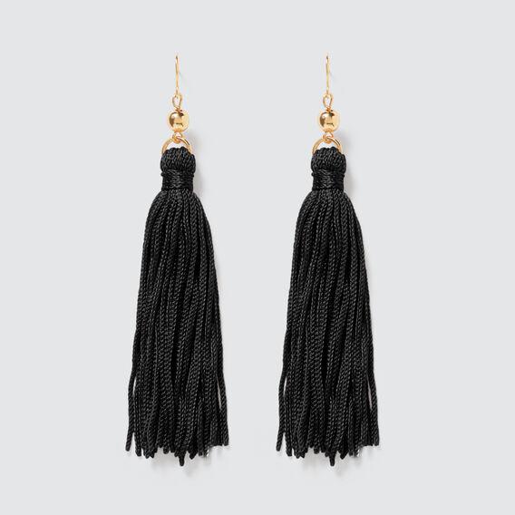 Tassel Earrings  BLACK/GOLD  hi-res