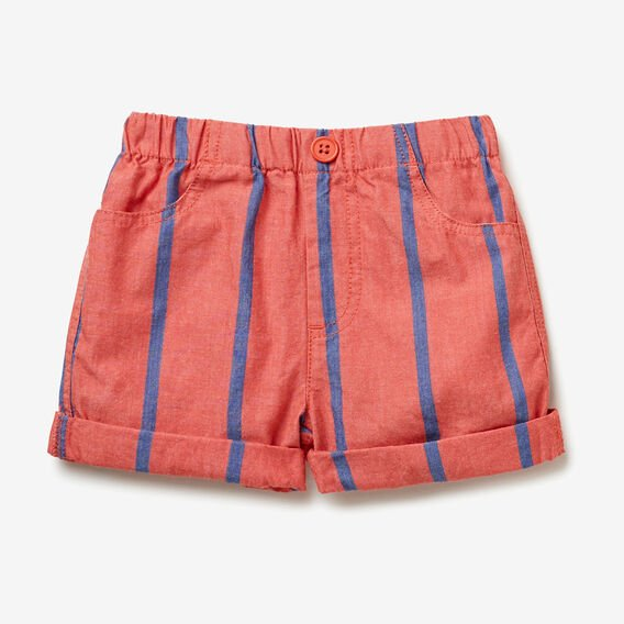 Woven Stripe Short  TRUE RED  hi-res