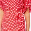 Wrap Front Playsuit  ROYAL RED GEO  hi-res